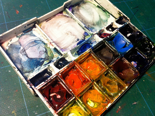October 2011: Enhancing my Watercolor Kit by apple-pine