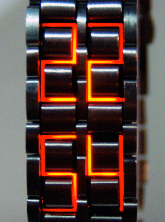 bracelet watch with led display