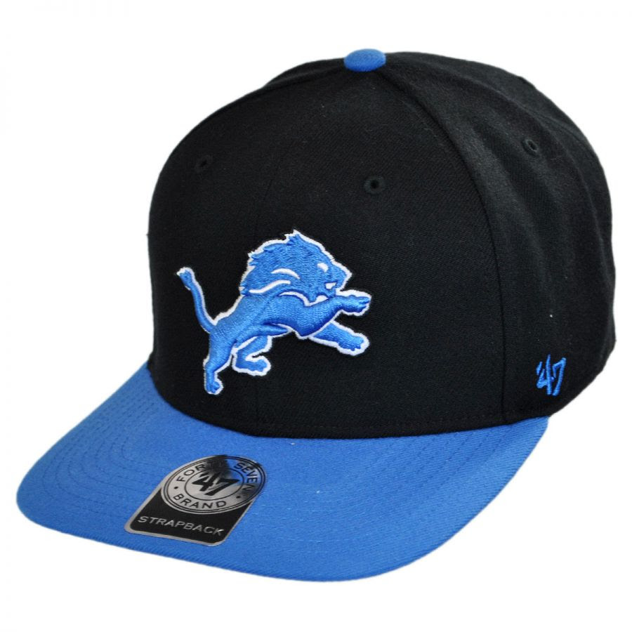 47 Brand Detroit Lions NFL Sure Shot Strapback Baseball Cap NFL Football Caps