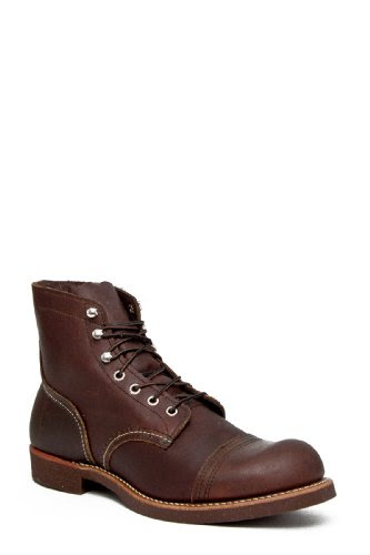 Red Wing Shoes Mens Boots 6 inch Iron Ranger Amber Full Grain Leather Boot 8111, Amber Harness, 13 D(M) US