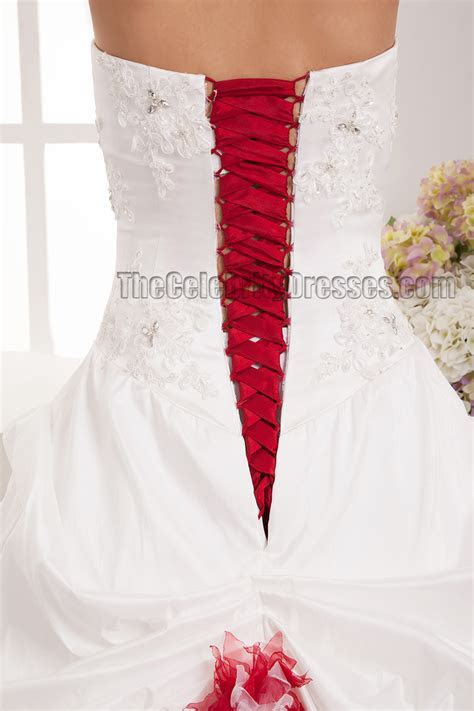 Floor Length A Line Strapless Sweetheart Lace Up Wedding