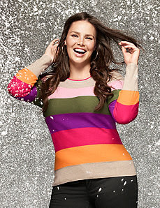 Zip shoulder sweater