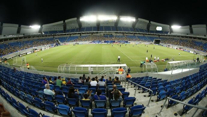 Arena das Dunas treino Brasil (Foto: Alexandre Lago/GloboEsporte.com)
