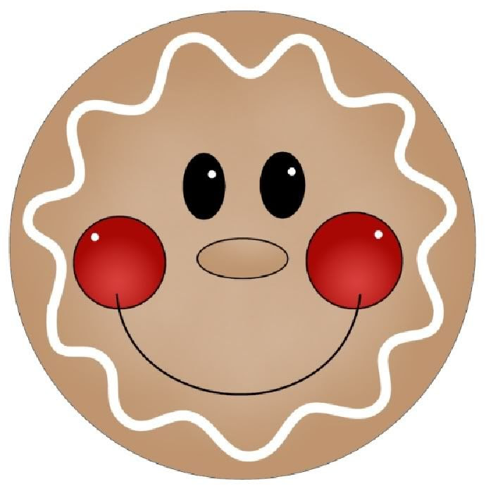 Gingerbread man clip art 8