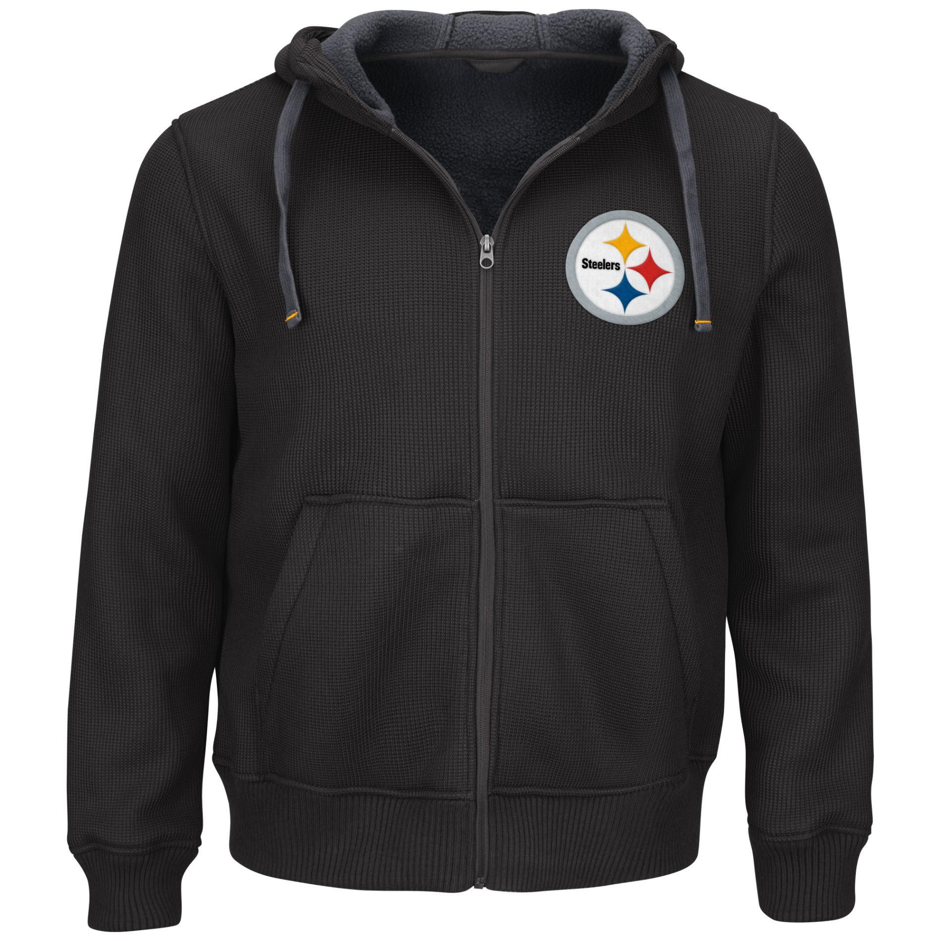 NFL Mens Thermal Hoodie Jacket  Pittsburgh Steelers