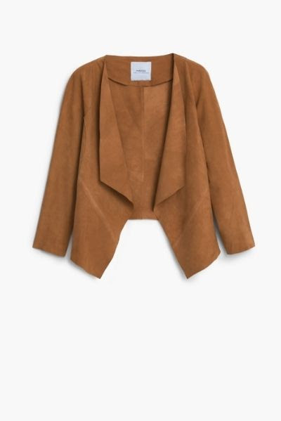 Mango Suede Waterfall Jacket