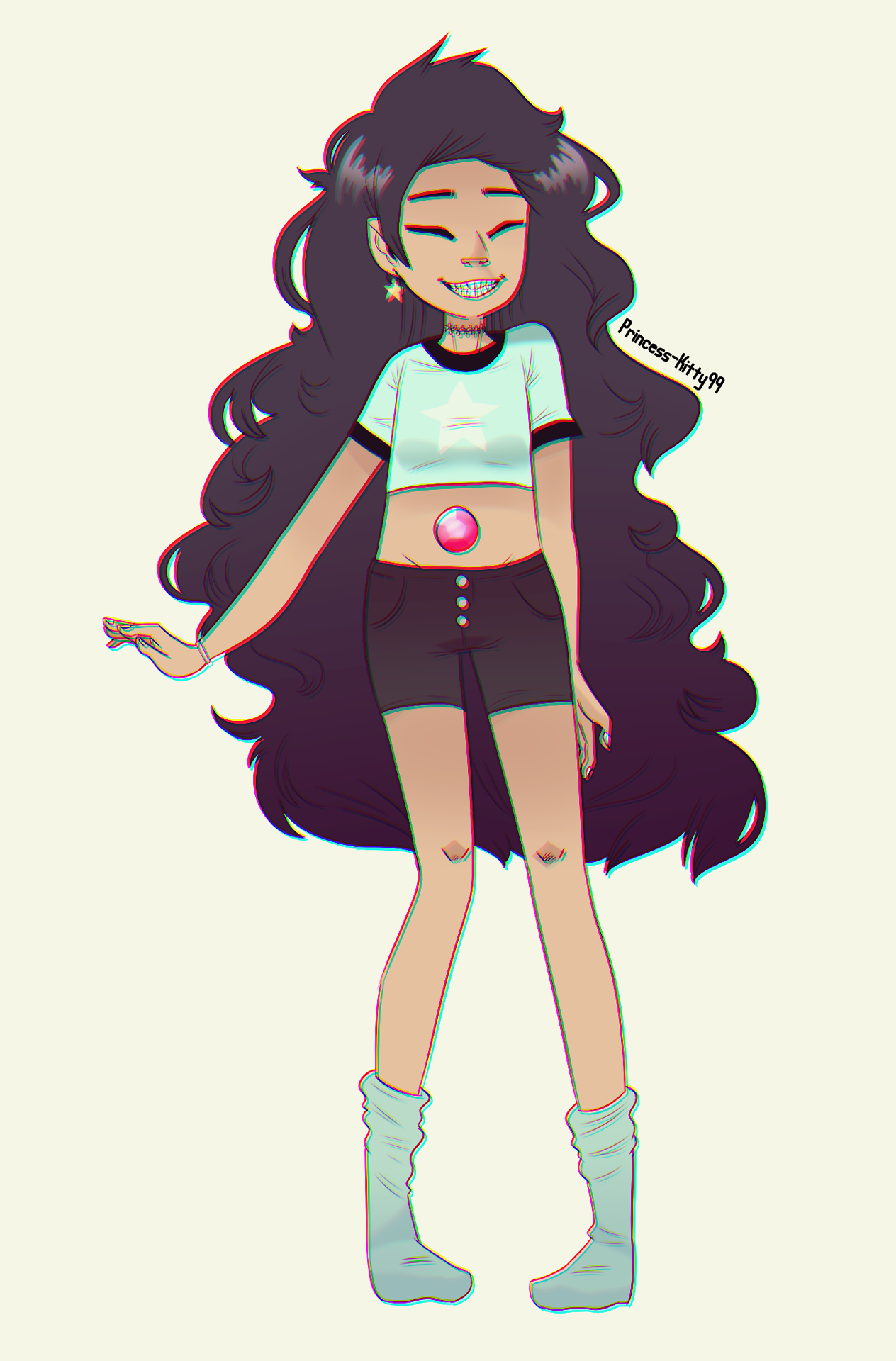 ► Request for elolaresistente ◄ • Stevonnie in Gorillaz style! •