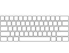 computer keyboard template printable - great for using with ...