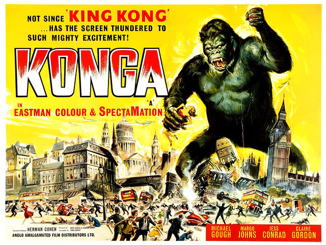 Reynold Brown - Konga (American International, 1961) half sheet