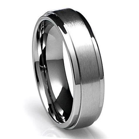 Mens 950 Platinum Wedding Band Ring 6MM Wide Sizes 4 12