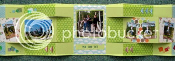 Jimjams - tri-fold mini-book - Conkers fully opened