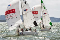 J/22s sailing San Francisco Bay match racing
