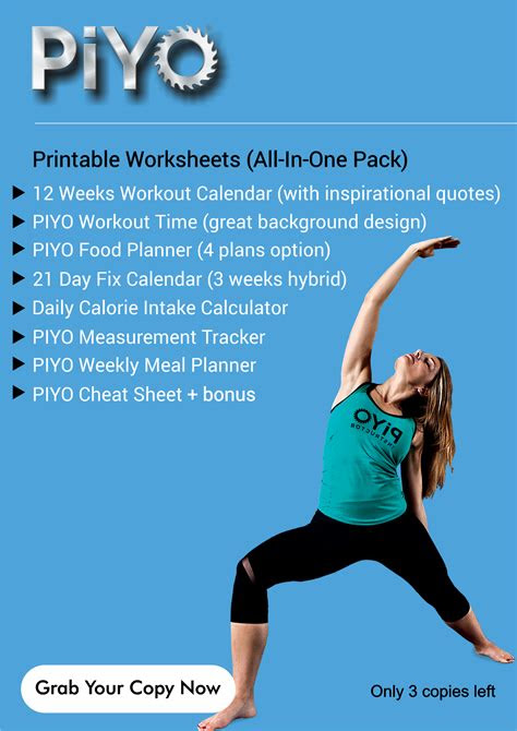 piyo workout calendar piyo workout calendar