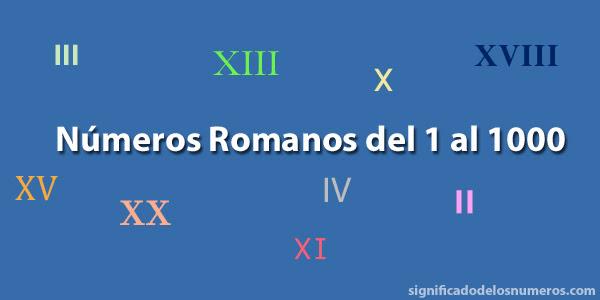 Números Romanos Del 1 Al 1000 Numeración Romana Hasta El 1000