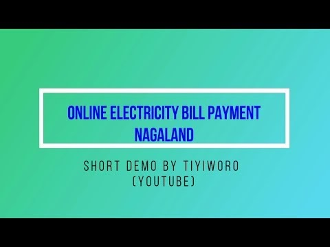Demo: Online payment of electricity bills in Nagaland