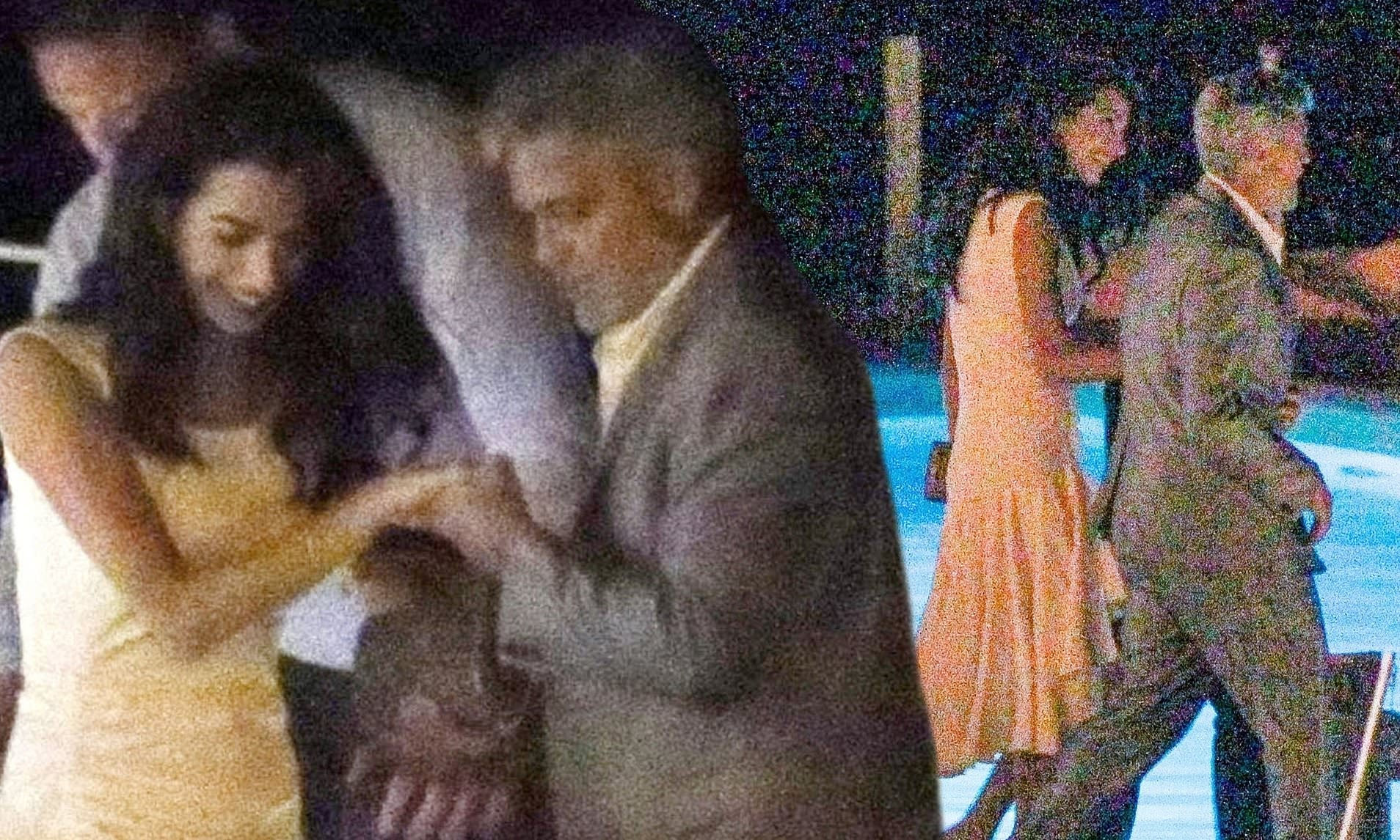 George Clooney helps glamorous wife Amal board a river taxi after a dinner date in Lake Como