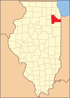 Locator Map of Will County, Illinois, 1853. Ba...