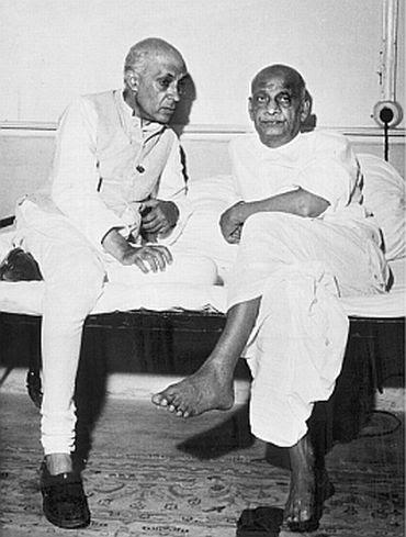 Image result for sardar patel and gandhi