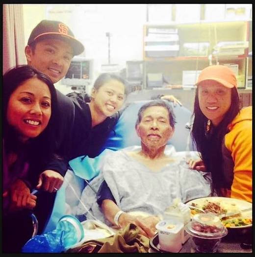 Gene Penaflor, center, with family members