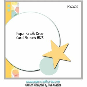 Paper Craft Crew Challenge 176. #papercraftcrew #cardsketch
