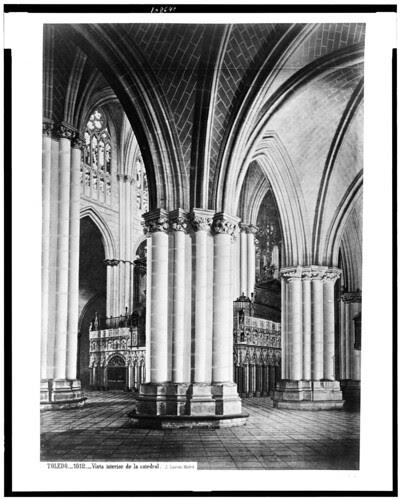 Catedral de Toledo (interior) en el siglo XIX. Fotografía de Jean Laurent. The Library of Congress of the United States of America