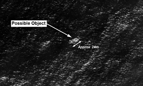The first object possibly associated with flight MH370.