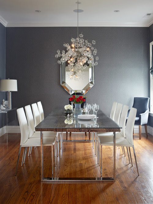 Grey And White Dining Room Home Design Ideas, Pictures ...