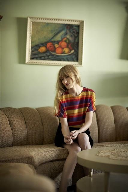 1385 - Silk Gem Toned Stripe Shirt