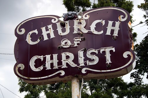 church of christ neon sign