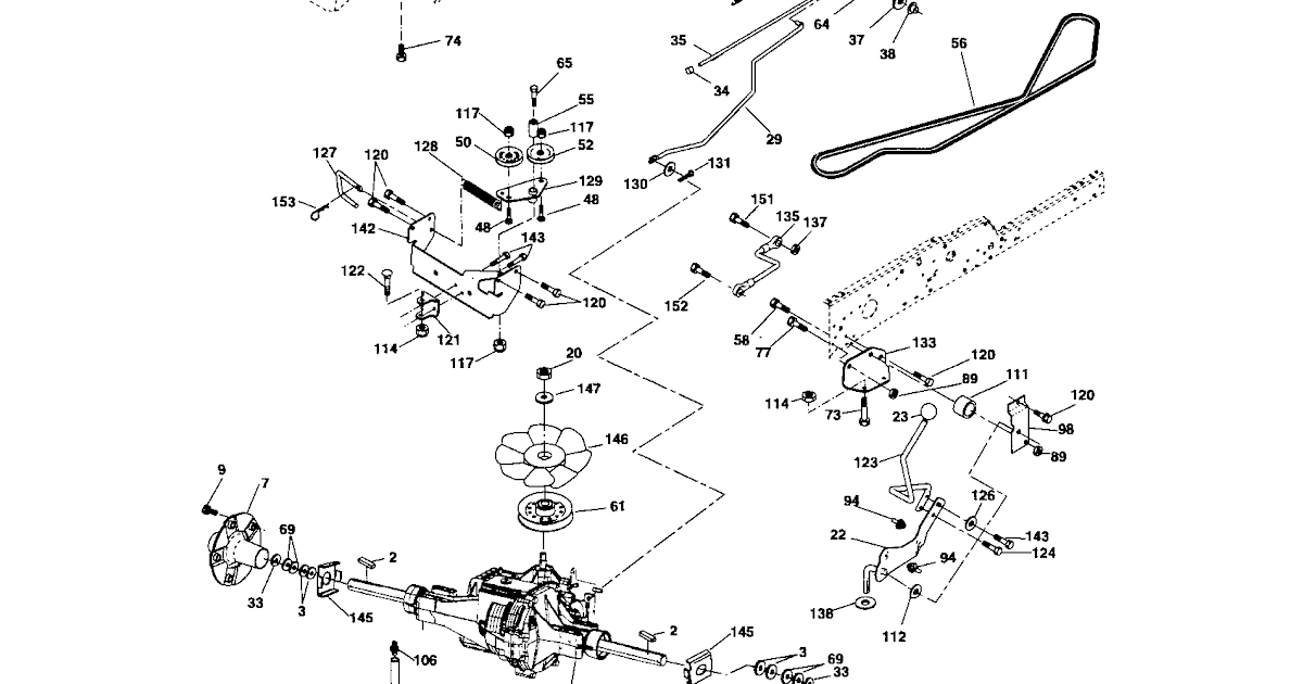 35 Craftsman Gt5000 Mower Deck Diagram