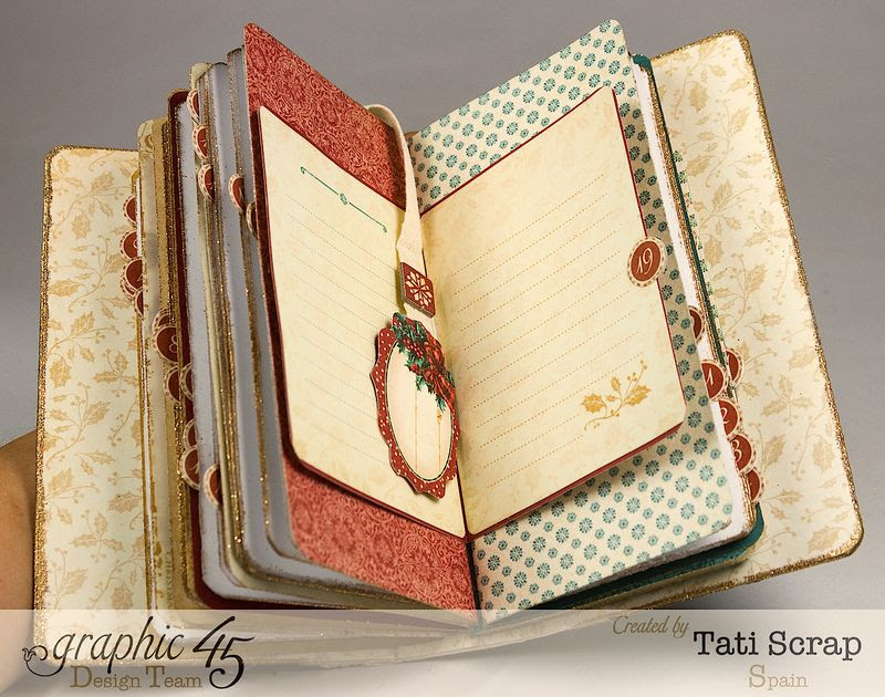 Tati, December Daily, Mini Album Christmas Carol, Product by Graphic 45, Photo 6