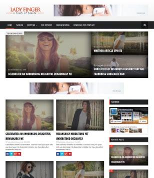 Lady Finger Blogger Templates