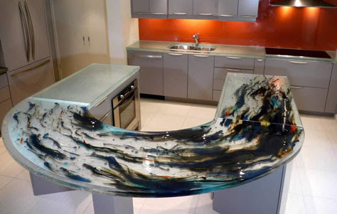 Functional Art Think Glass Countertops