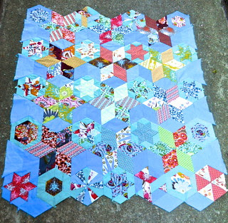 Loulouthi hexies, started summer 2011, now almost done