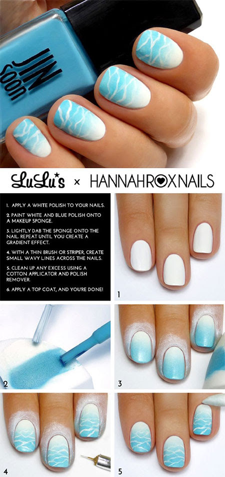 18 Easy Step By Step Summer Nail Art Tutorials For ...
