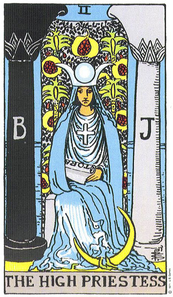 Image result for THE HIGH PRIESTESS TAROT