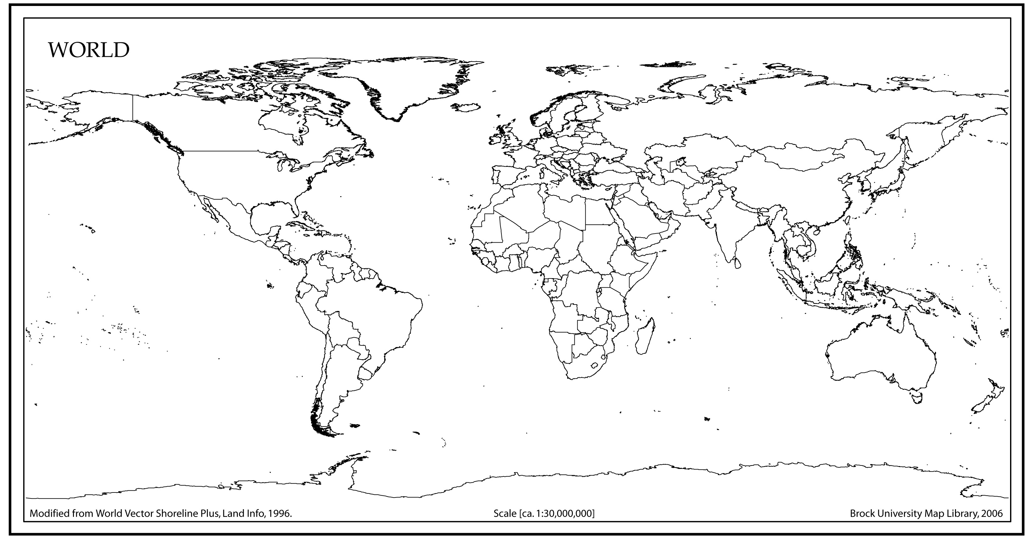 Image of: Source Of Map 7 Best Images Of World Map Printable A4 Size World Map Printable World Time Zones Map