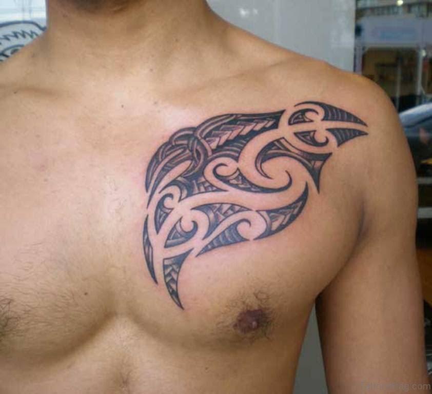 Tattoo Design For Men Chest Simple