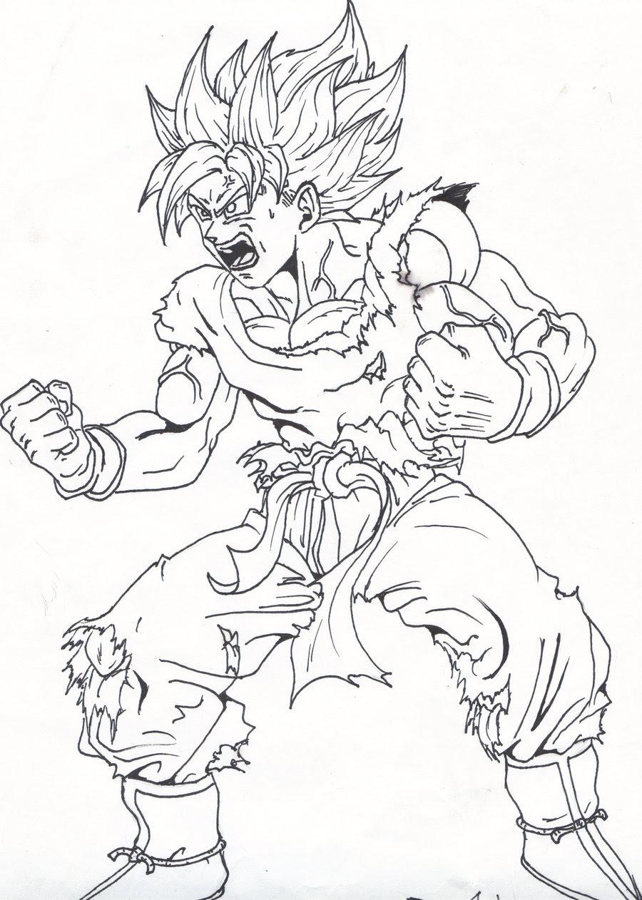 Black Goku Da Colorare Stampae Colorare