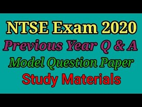 NTSE Tamil Nadu previous years question paper and answer key