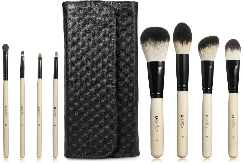 Makeup Brushes, USpicy 8 Pieces Wooden Handle Make Up ...
