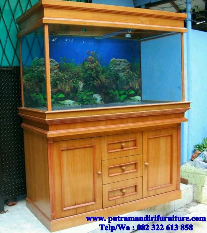 Aquarium Ikan Kayu Jati Desain Model Furniture Jepara Terbaru