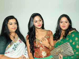 Ambika, karthika and Radha