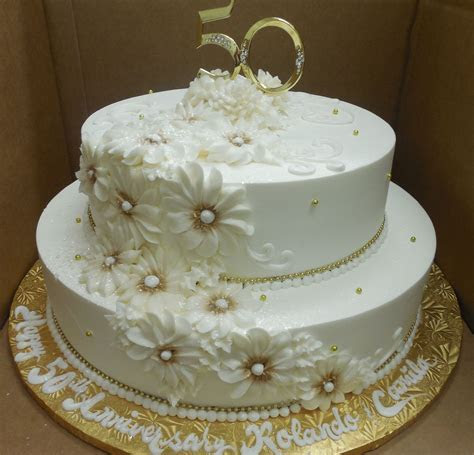 Calumet Bakery 50th Wedding Anniversary /Gold Daisy   50th