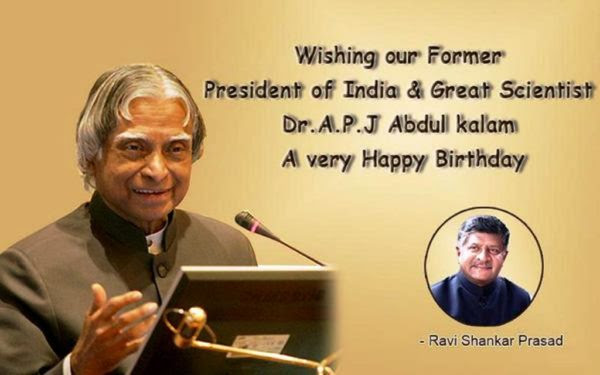 Abdul kalam Birthday Wishes Pictures, Images  The Missile Man Of India