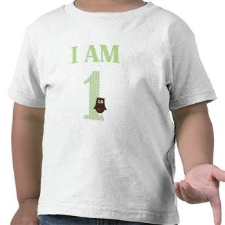 I AM ONE Birthday Owl T-Shirt zazzle_shirt