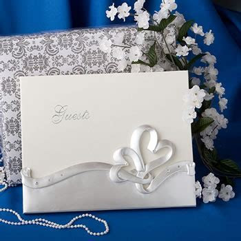 Interlocking Hearts Design Wedding Guest Book   Nice Price