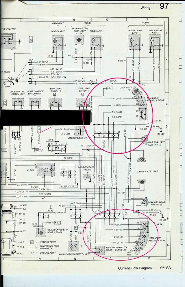 Wiring Schematic To The Rear Light Units Pelican Parts Forums