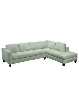 Milo Fabric Microfiber Sectional Sofa, 2 Piece (Sofa & Chaise) 115