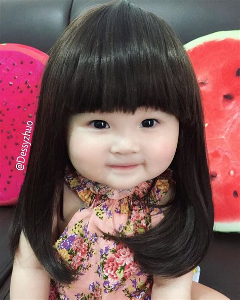 iiiih gemes bayi perempuan   dandan rambut